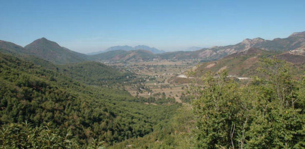 Veduta delle campagne vicino a Taurasi